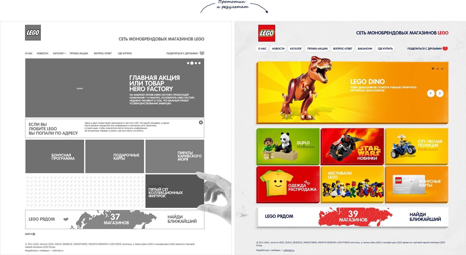 Дизайны лучших одностраничных интернет магазинов