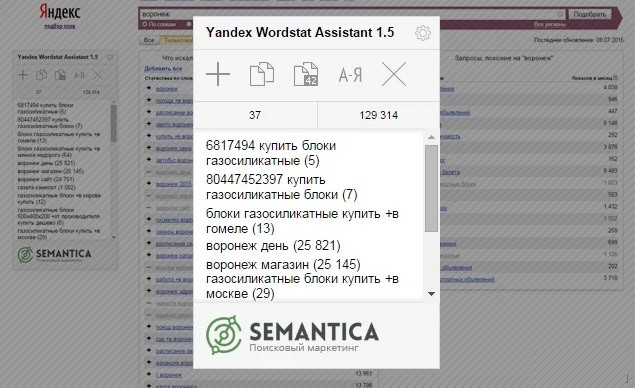 Ключевые слова Яндекс