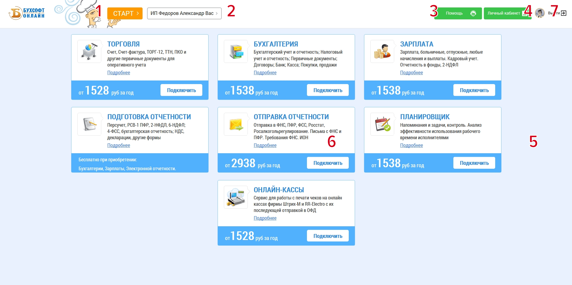 Характеристики Бухсофт Онлайн — инструкция по работе